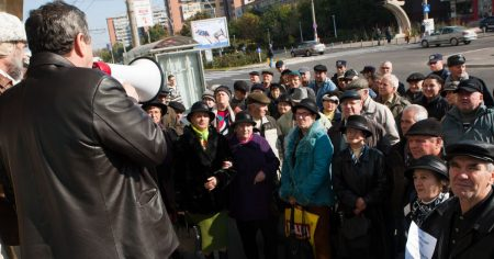 Pensionarii au iesit din nou in strada